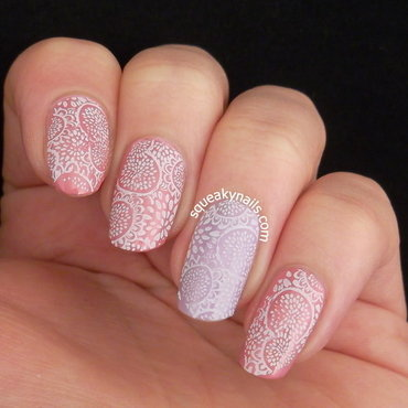 Whisper of Spring  nail art by Squeaky  Nails