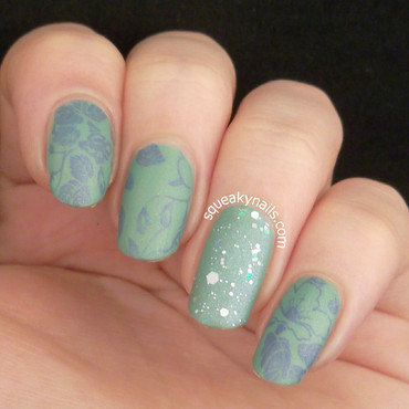 Mint Illusion nail art by Squeaky  Nails