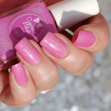 Cupcake Polish Back to the Fuchsia Swatch by Katie of Harlow & Co.