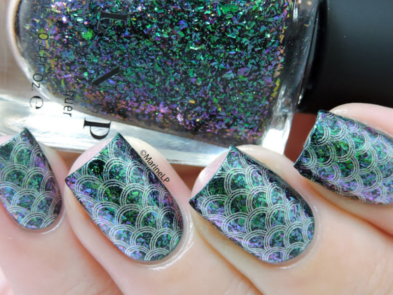 Rainbow fish nails nail art by Marine Loves Polish