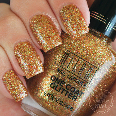 Milani Gold Glitz Swatch by xNailsByMiri
