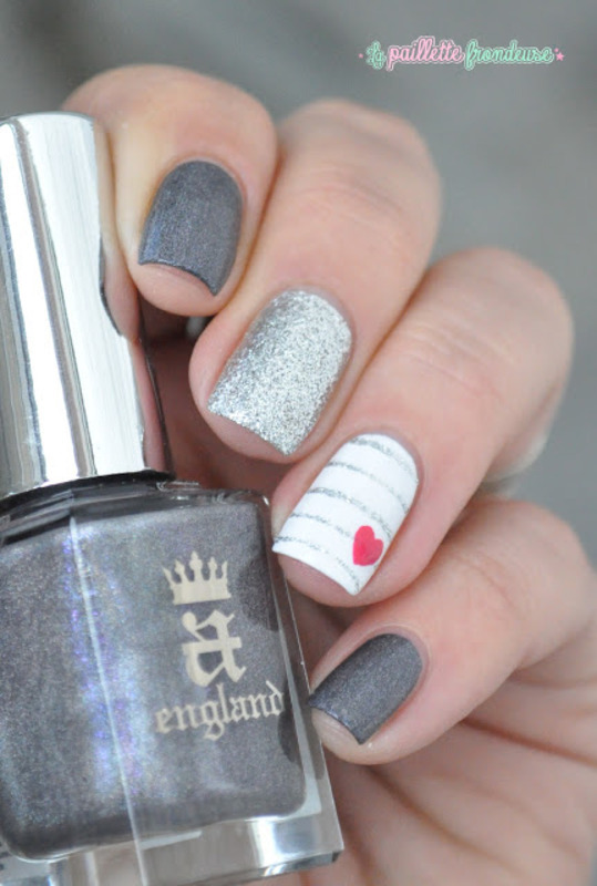 gray and silver nautical nails nail art by nathalie lapaillettefrondeuse