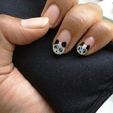 panda on nails nail art by nail nakshi