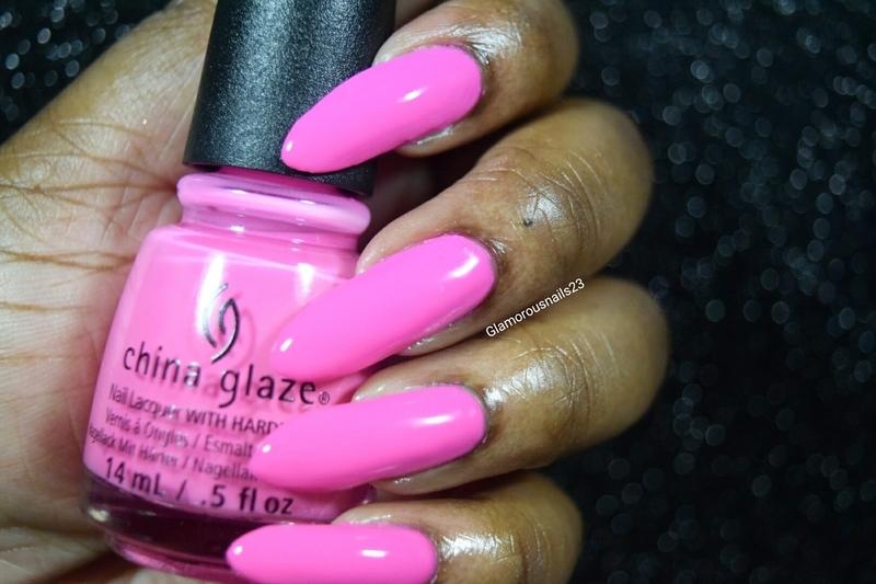 China Glaze Glow with the Flow Swatch by glamorousnails23