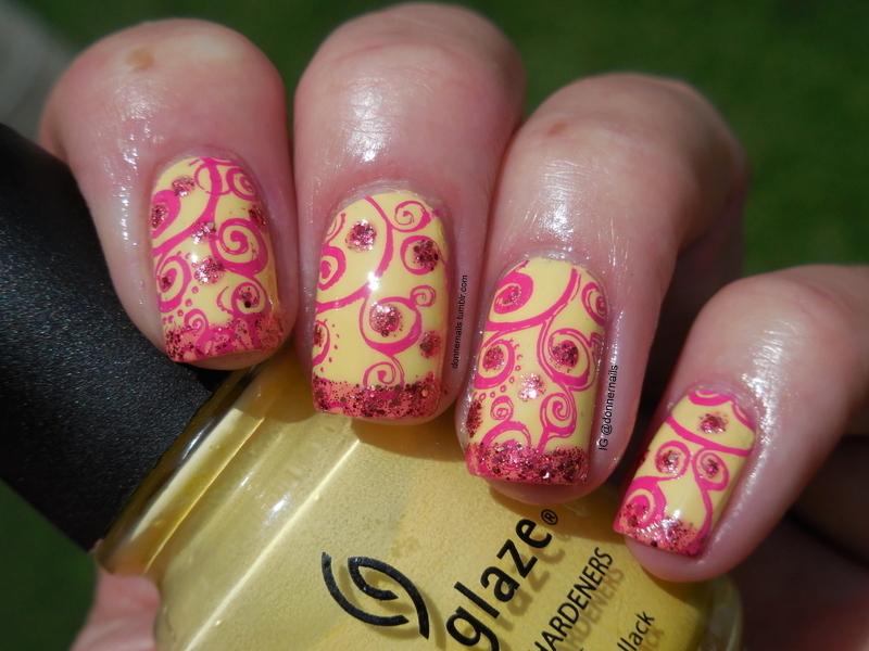 Not Mellow Yellow nail art by Donner