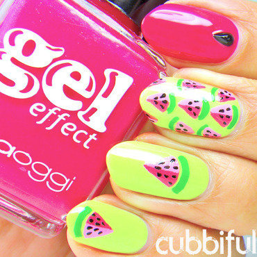 Cute watermelon nails thumb370f