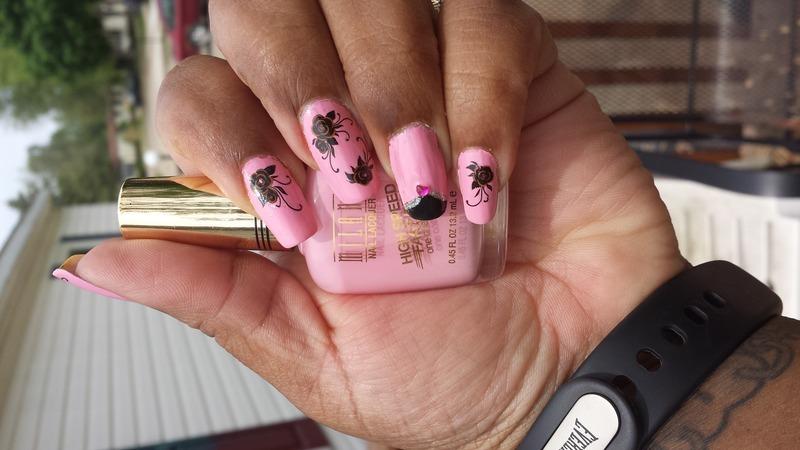 Spring roses nail art by LisaB