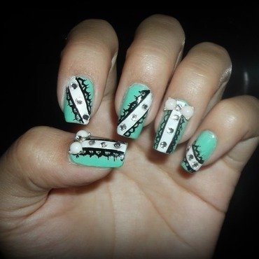 Lace nails nail art by Jacquelin