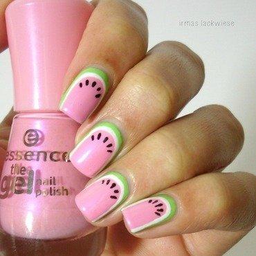 watermelon nail art by irma