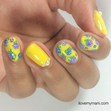 Summer Floral Manicure! nail art by Gabrielle