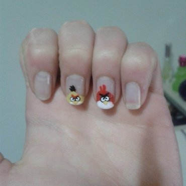 Angry Birds nail art by Maya Harran