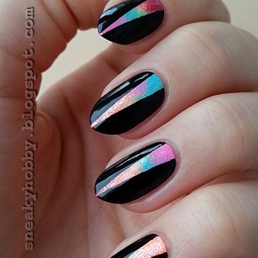 Rainbow Colors nail art by Mgielka M