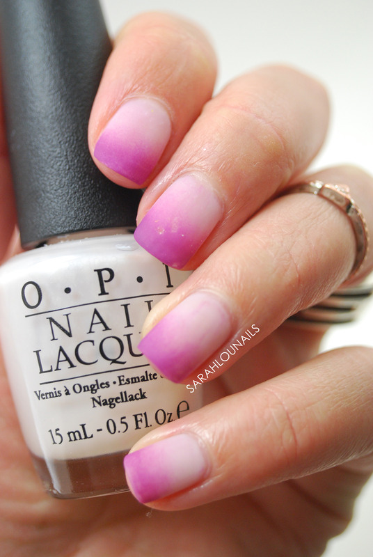 Matte Ombre Nails! nail art by Sarah S