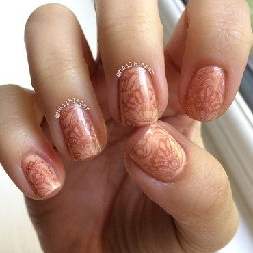 Mother's Day Lace nail art by Nailblazer