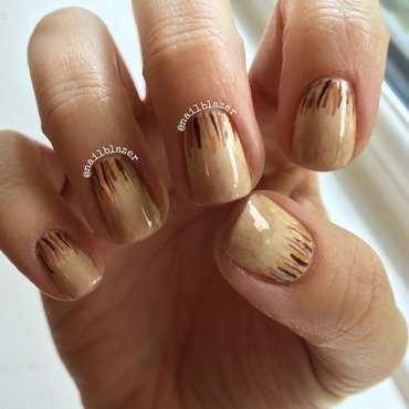 Coffee Waterfall nail art by Nailblazer
