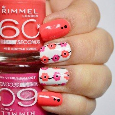 Festival floral nail art for Rimmel nail art by Aleksandra Mroczek
