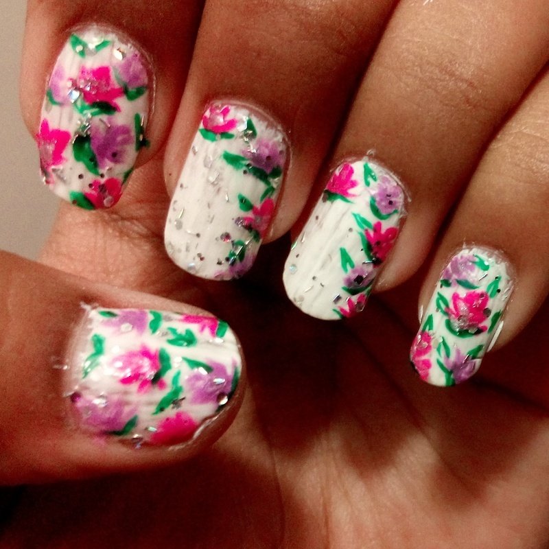 flowers_love nail art by sonakshi arya