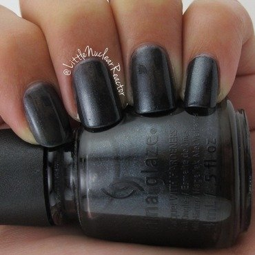 China Glaze Black diamond Swatch by LittleNuclearReactor