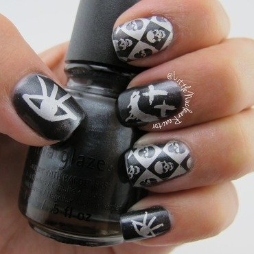 Classic Punk nail art by LittleNuclearReactor