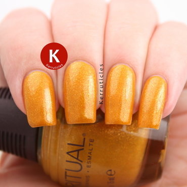 Barry M Mustard and SpaRitual Tend Swatch by Claire Kerr