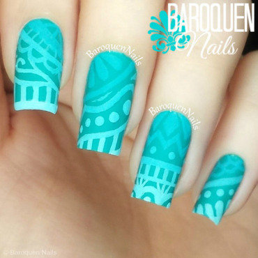 Faded nail art by BaroquenNails