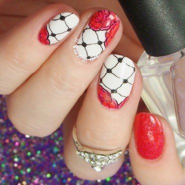 'Laces' manicure nail art by Lou