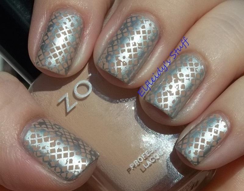 30DoCC- silver/negative space nail art by Jenette Maitland-Tomblin