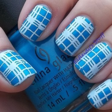 52WPNMC- plaid nail art by Jenette Maitland-Tomblin