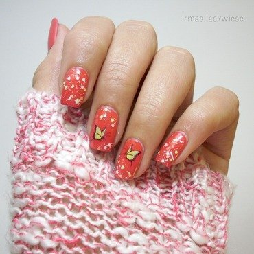 butterfly nail art by irma