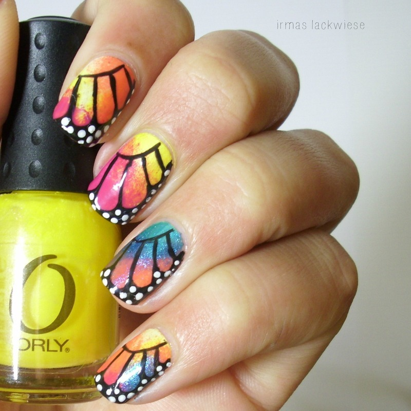butterfly wing nail art by irma
