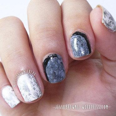 """The Bell Jar"" inspired mani nail art by Jessi Brownie (Jessi)"