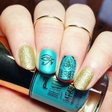 Old Egypt nail art by nailicious_1