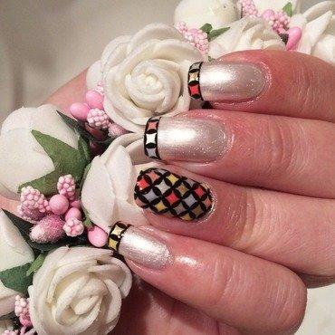Reverse stamping nail art by Varvara