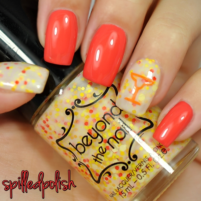 Bellini Time nail art by Maddy S