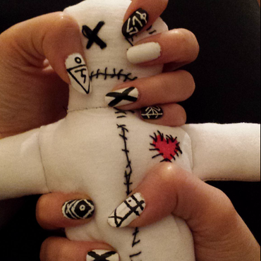 Halloween Voodoo Doll  (K-Pop) nail art by QueenCL
