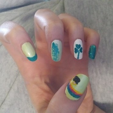 Leprechaun Design (for our Dancers) nail art by QueenCL