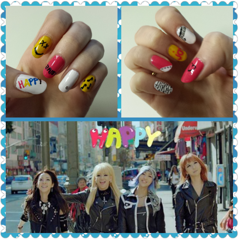Happy Nails  (K-Pop) nail art by QueenCL