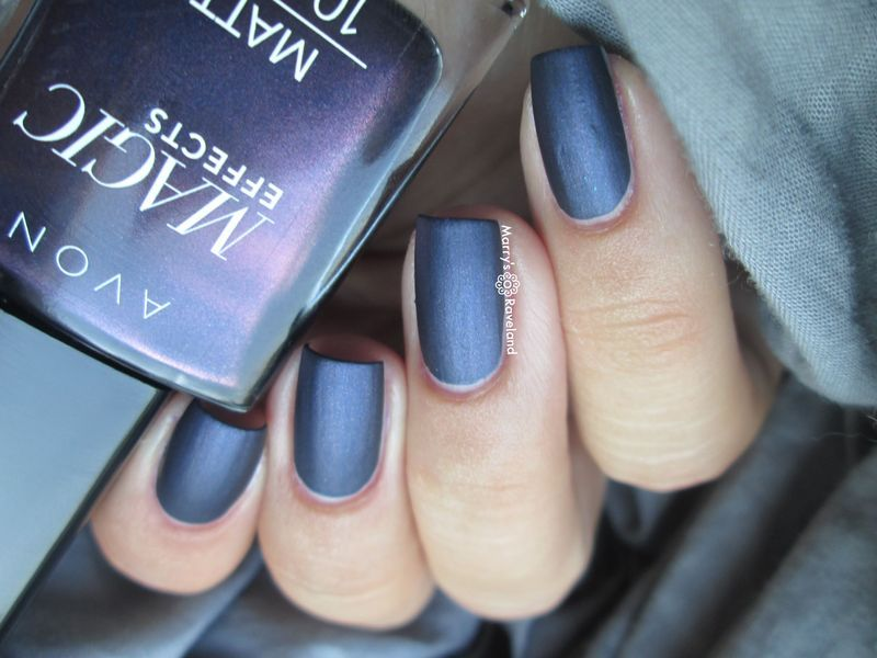 Avon Magic effects matte Inky blue Swatch by Marina - Nailpolis ...