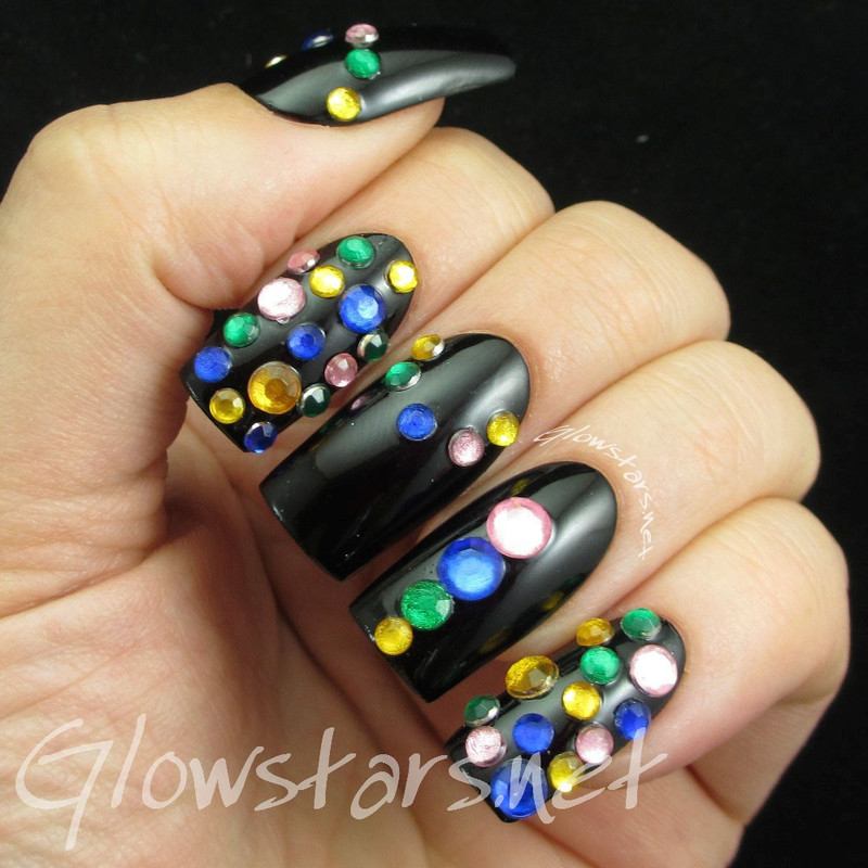 Inspired by Charlotte Olympia Bauble Sandals nail art by Vic 'Glowstars' Pires