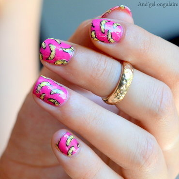 Banana Banana, Banana split !! nail art by And'gel ongulaire