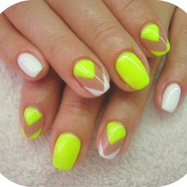 Crystal Nails GL 149 neon yellow Swatches and Nail Art - Nailpolis ...