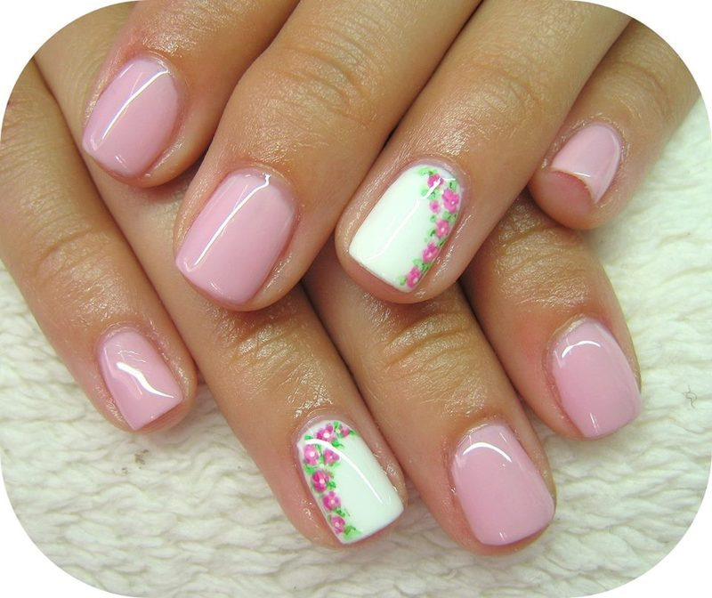 Short nails with flowers nail art by boglarka tornai nailpolis short nails with flowers nail art by boglarka tornai prinsesfo Gallery
