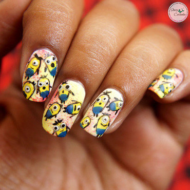 Cute Minions nailart nail art by Stacey  Castanha