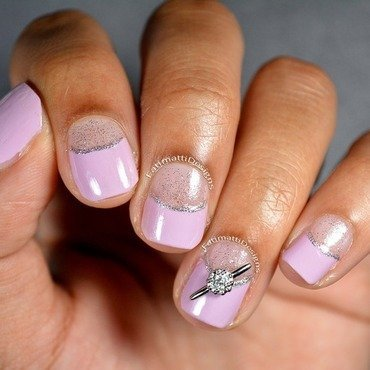 Lilac Engagement nail art by Fatimah