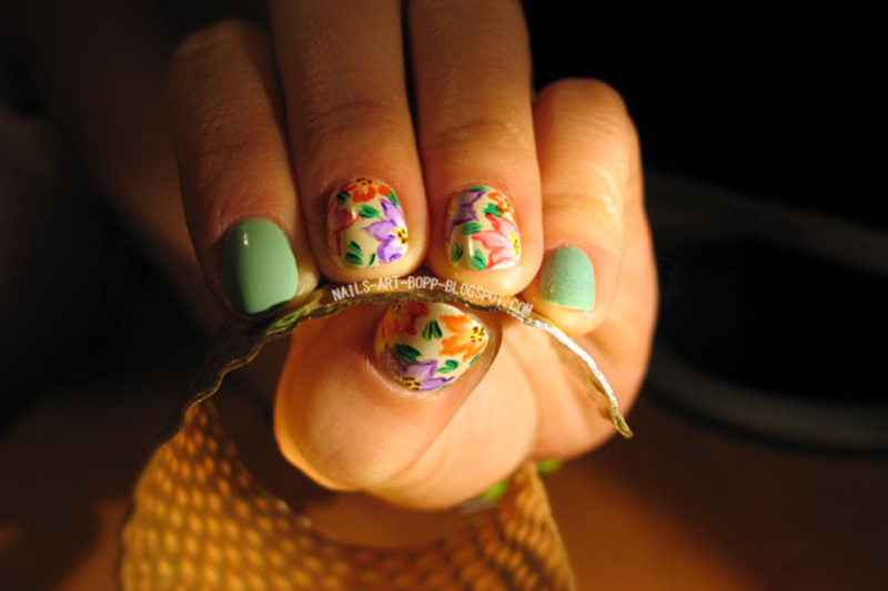 Secret garden nail art by bopp