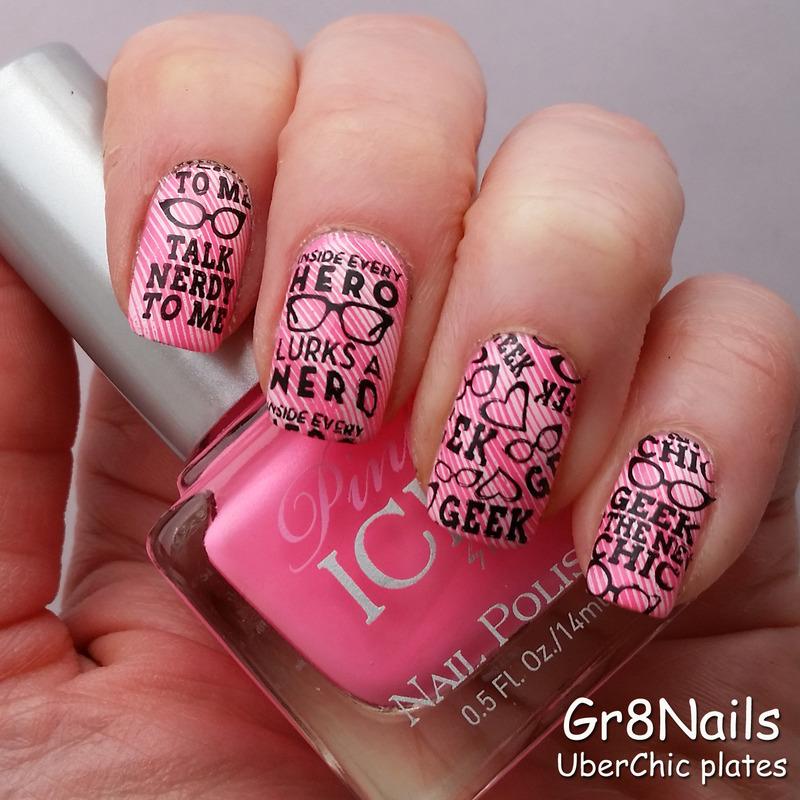 Geek Love nail art by Gr8Nails