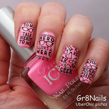 Geek Love nail art by Gr8Nails