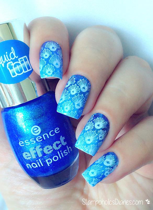 Blue Seashell Nails nail art by Natasha