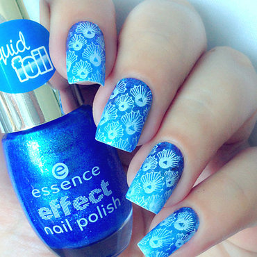 Blue Seashell Nails nail art by Natasha