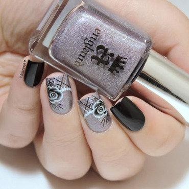 Roses & pearls nail art by Marine Loves Polish